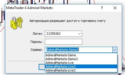Как выбрать сервер в MetaTrader 4