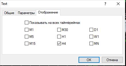 Как настроить график в MetaTrader - добавление и настройка текста