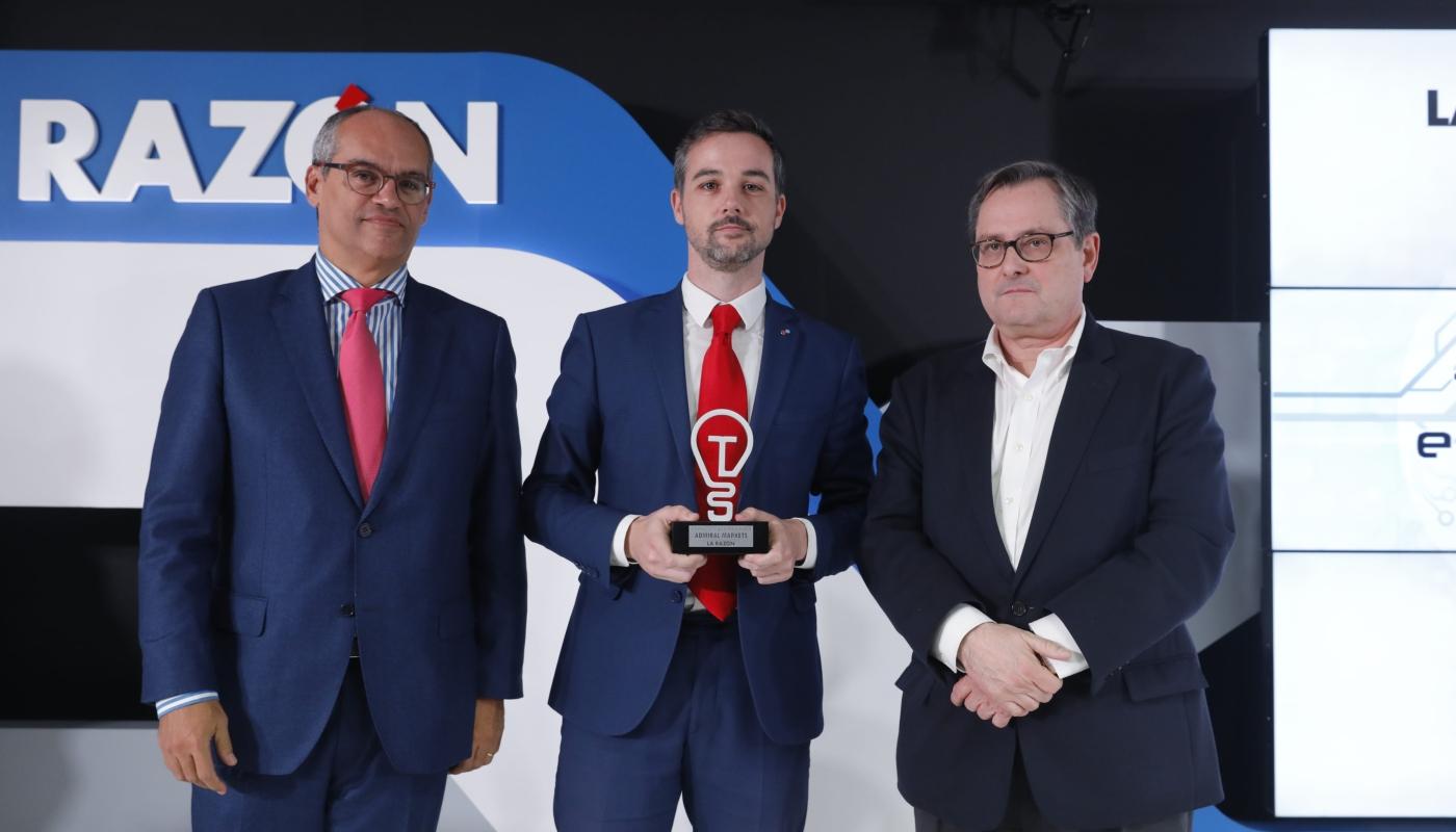 Juan Enrique Cadiñanos, Admiral Marketsi Spain Hub Manager koos Francisco Marhuenda ja Rafael Van Griekeniga