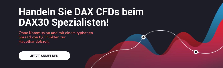Handeln Sie mit uns CFDs auf einen der beliebtesten Indizes der Welt - den DAX30