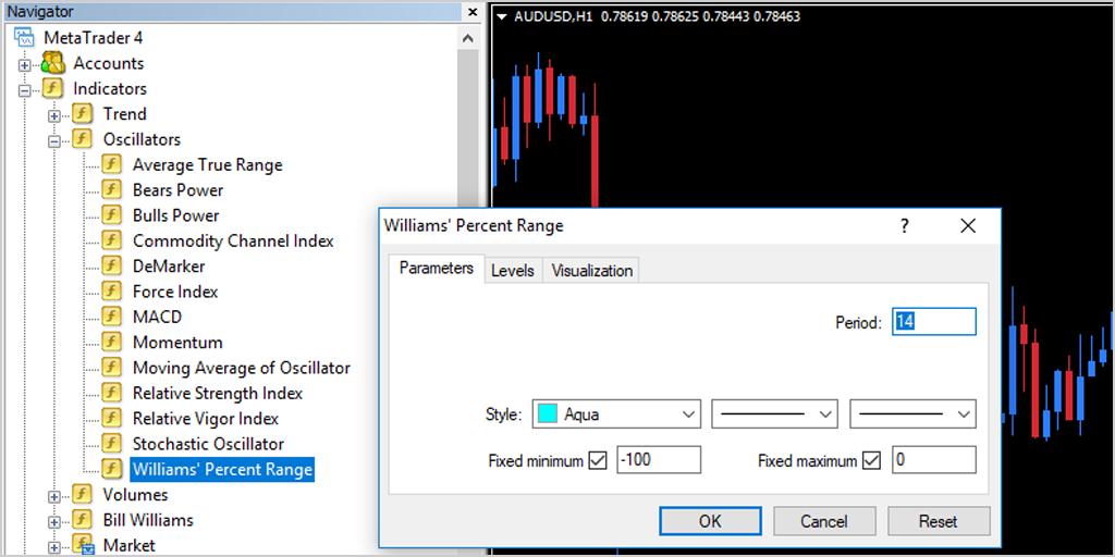 Percent Range Indicator Settings