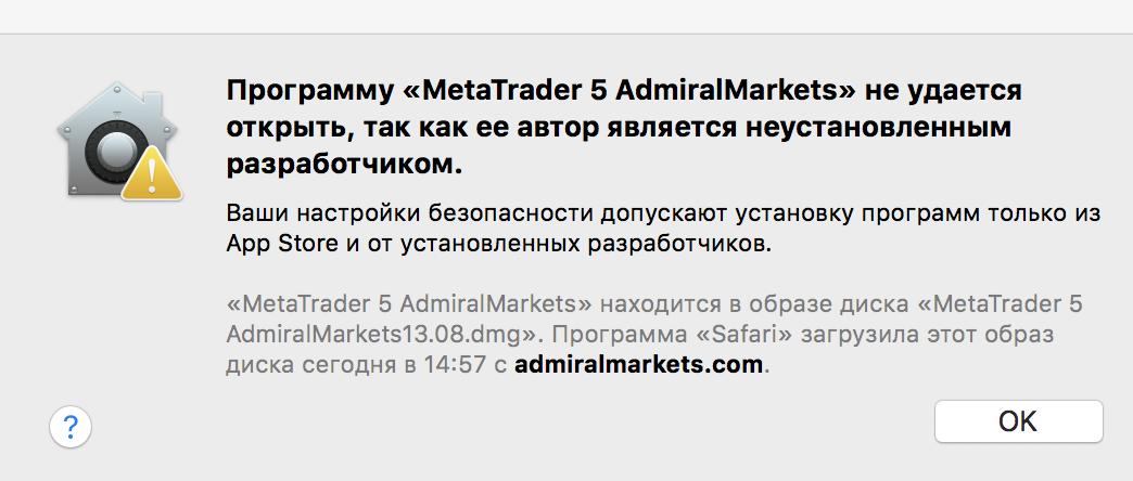 Metatrader 5 для mac
