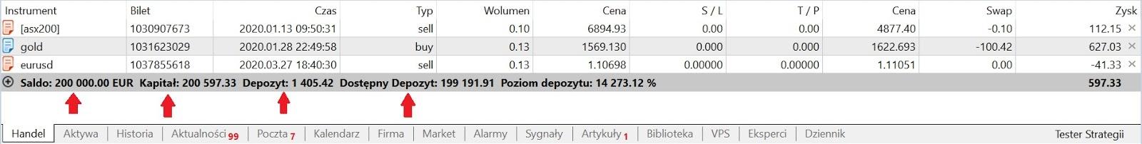 dziennik inwestora forex market