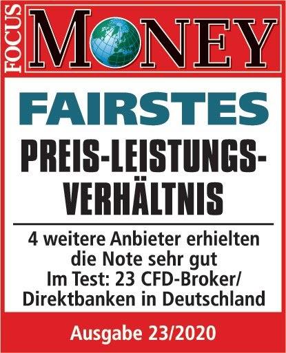 Admiral Markets - Fairstes Preis-Leistungs-Verhältnis laut Focus Money