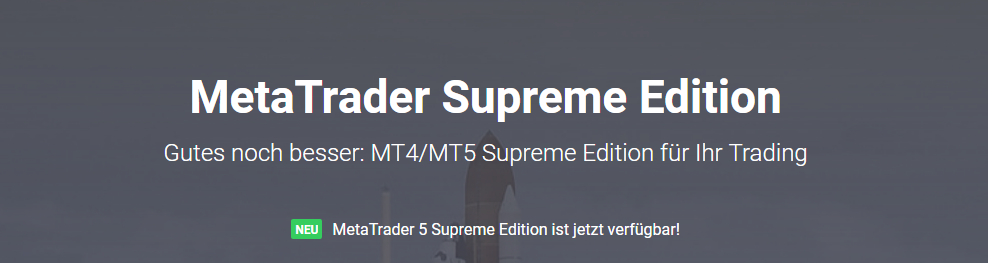 MT Supreme Edition für MetaTrader 4 und MetaTrader 5 kostenlos verfügbar!