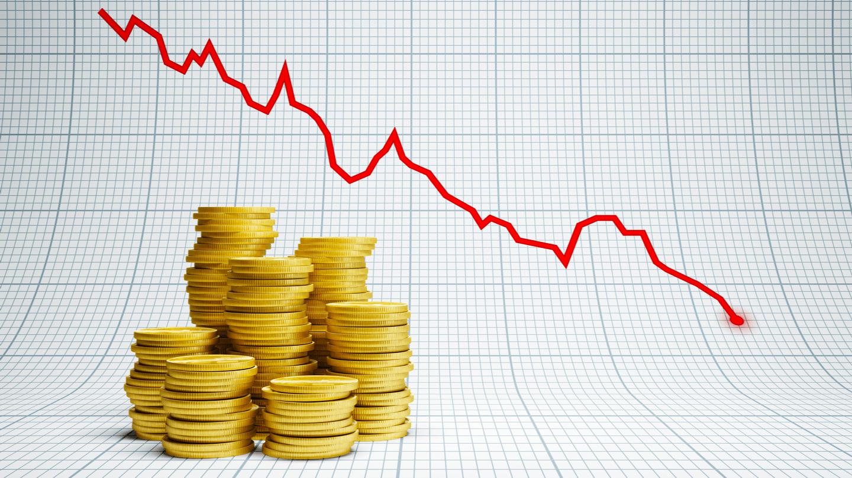падение золота в марте