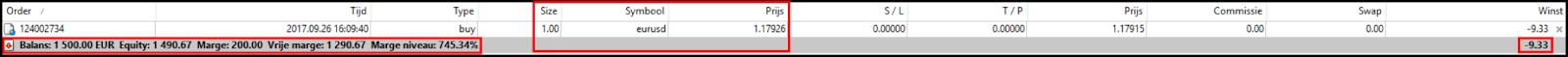 Voorbeeld marge berekening