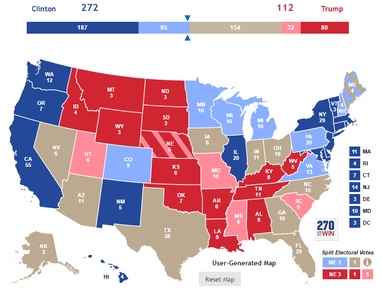 A Complete Guide To The US Presidential Elections And The Best - Us map of presidential polls