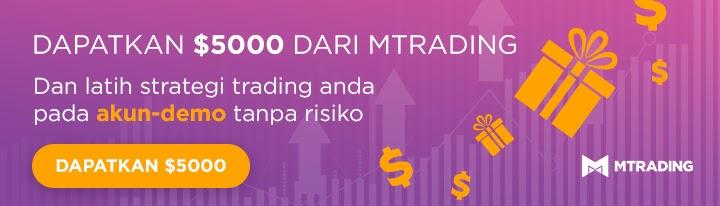Dapatkan 5000 USD untuk menguji strategi anda di Akun Demo MTrading
