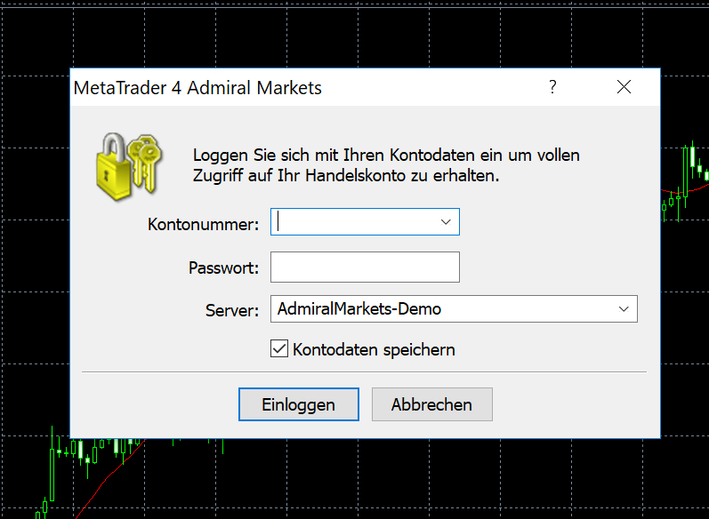 Konto-Login im MetaTrader 4