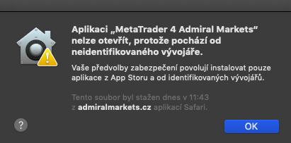 metatrader 4 mac obchodní účet