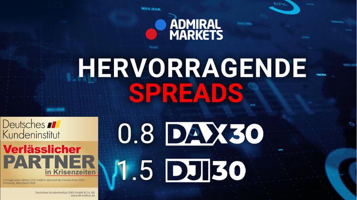 Beste Spreads für Forex & CFD - DAX & DOW