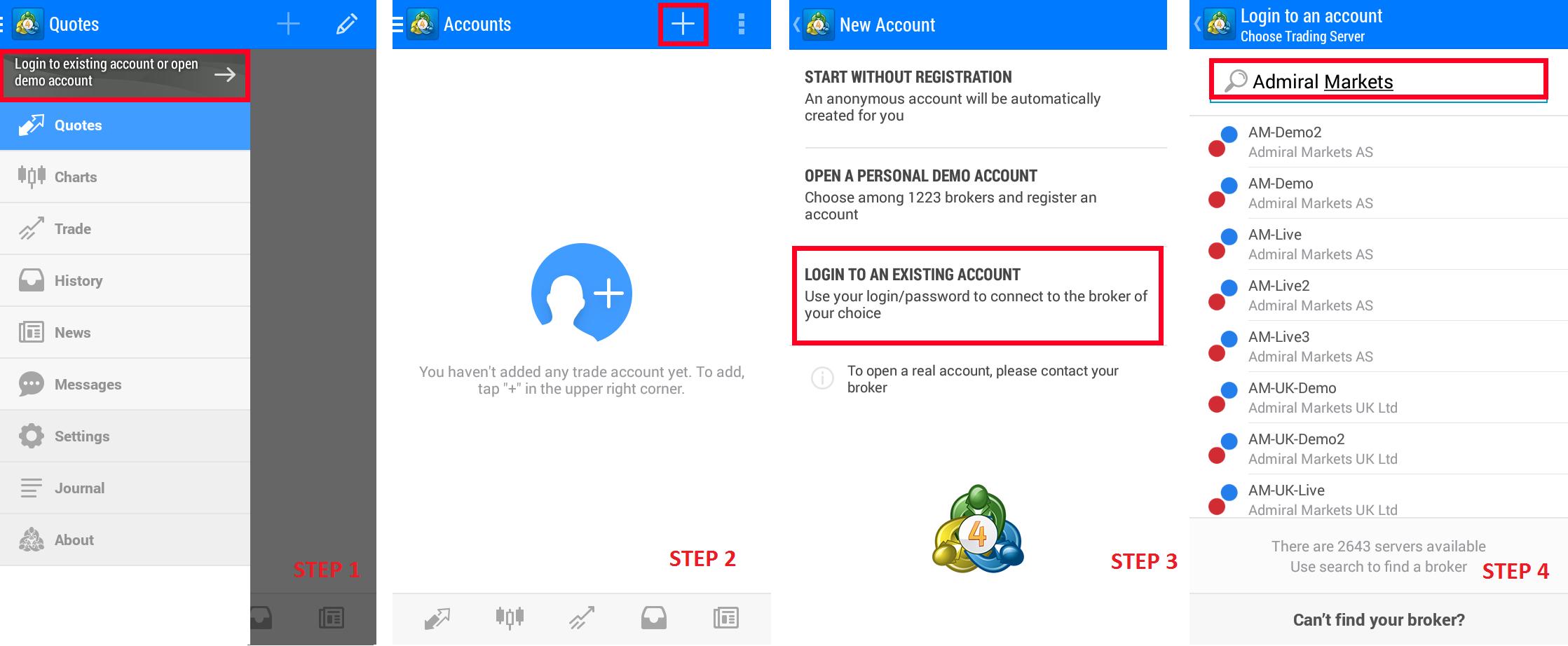 tutorial aanpassen server instellingen MT4 apps