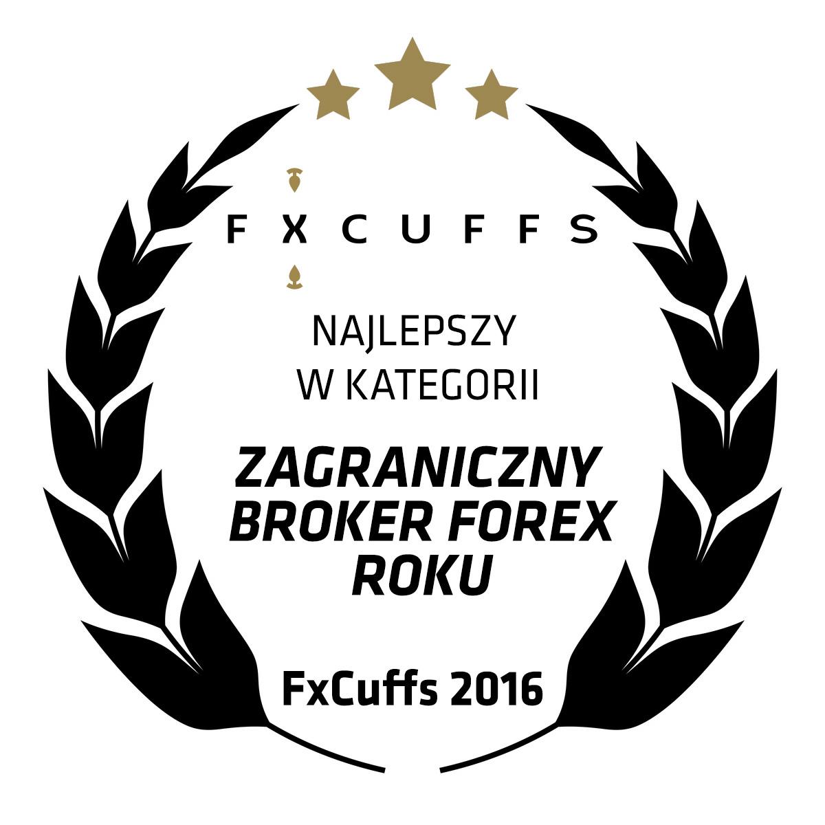 Nagroda FxCuffs dla Najlepszego Zagranicznego Brokera Forex w 2016 roku